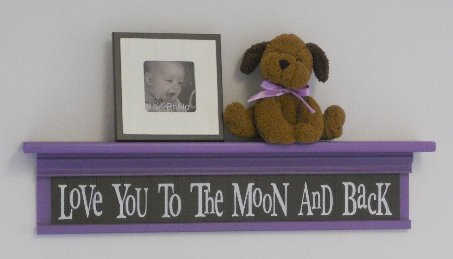 Baby Girl Wall Decor Etsy : Baby girl brown purple nursery decorating ideas by