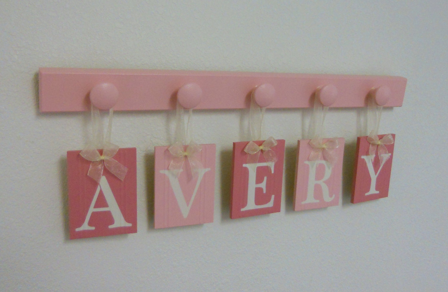 Pink Baby Girl Nursery Kids Personalized Name Signs