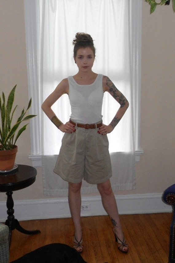 Vintage Calvin Klein High Waist Khaki Shorts