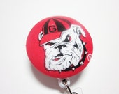 Retractable Badge Reel University of Georgia Bulldogs