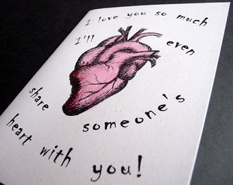 Share Someone Elses Heart    ZOMBIE Greeting Card