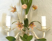 Hand Painted Flower Sconce