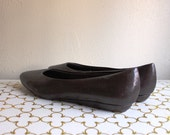 Vintage Dark Brown Tiny Wedges 6.5