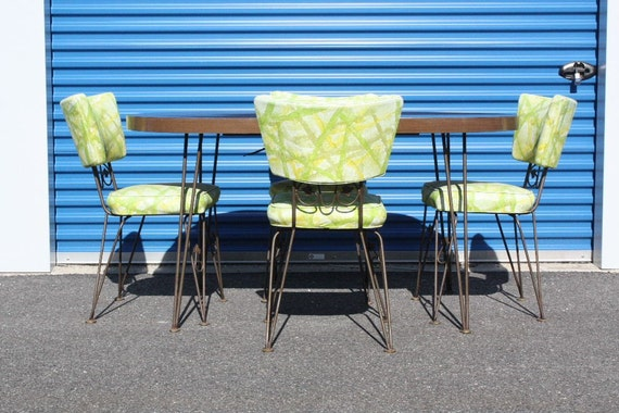 items similar to sale 1960 39 s kitchen table with 4 chairs on etsy. Black Bedroom Furniture Sets. Home Design Ideas