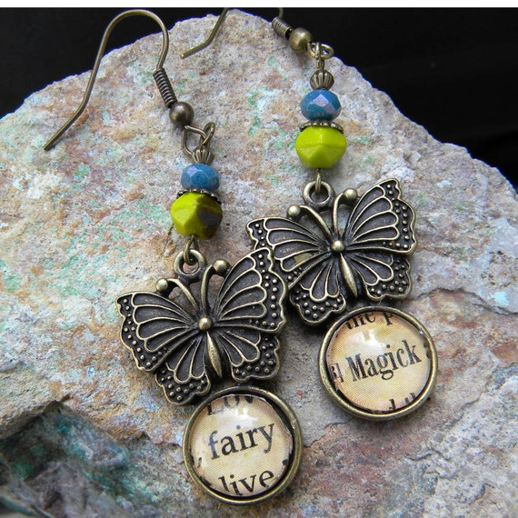 Earrings -  Flitting Fairy Butterfly Earrings - FAIRY MAGICK - Fairy Magic
