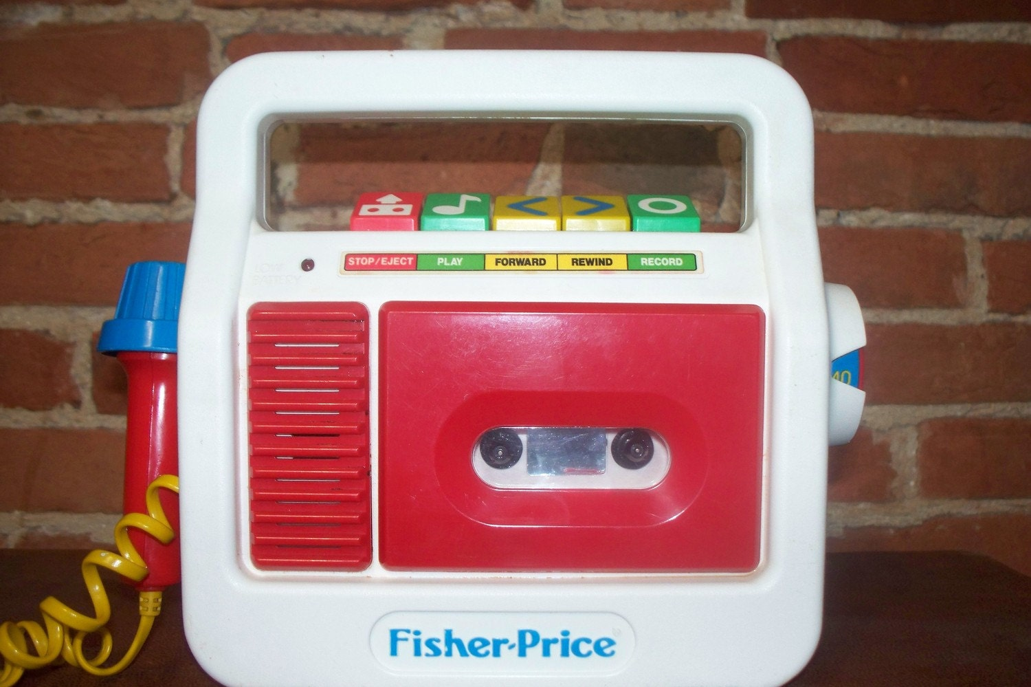 Vintage Fisher Price Cassette Tape Recorder With By Swagjuice