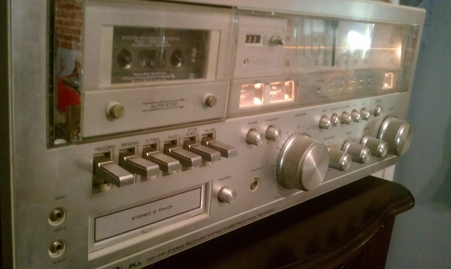 Soundesign Stereo System With Cassette Deck 8 Track Player And