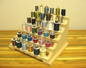 Thread and Bobbin Holder - organizer spool accessory woodworking ribbon sewing