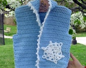 Crochet Hoodie Snowflake Vest, 12 Month Old Custom Orders Welcome