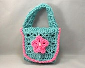 Crochet Cell Phone/IPod Teal Holder with White Buttons