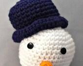 Crochet Amigurumi Frosty Snowman