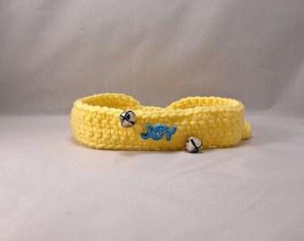 Crochet Yellow Joy Dog/Cat Collar