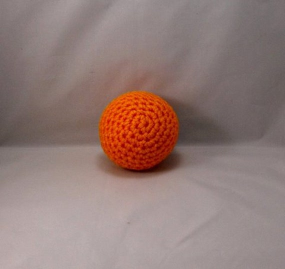 Crochet Orange Plush Ball