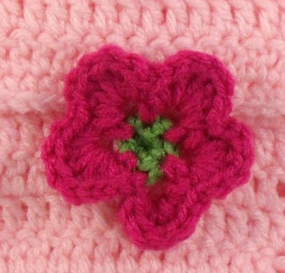 Crochet Coin Purse Pink Raspberry Flower Clasp Custom Bridal Party Favors