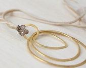Golden Circles with Smokey Quartz Necklace