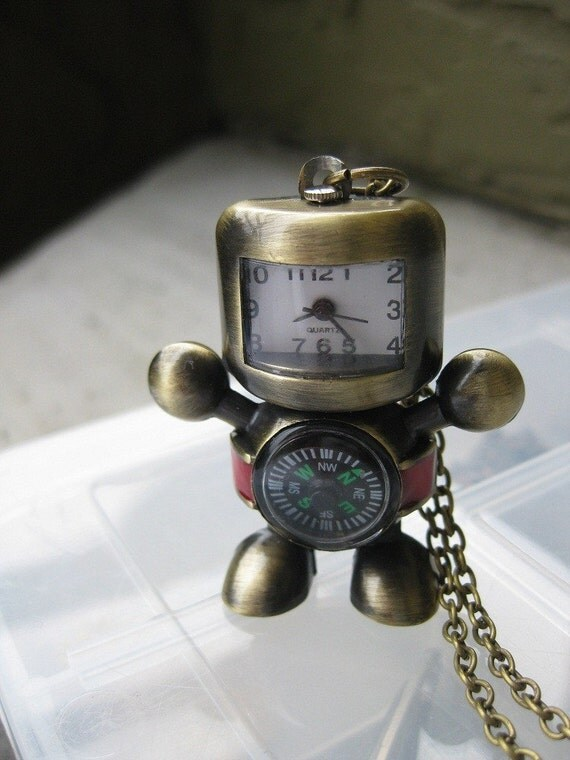 champion robot watch necklace