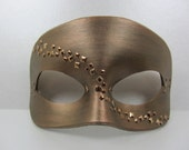 Bronze leather and metal mask