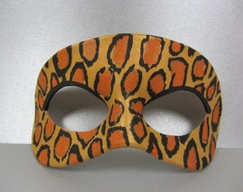 Leopard Animal Print Leather Mask, Unisex