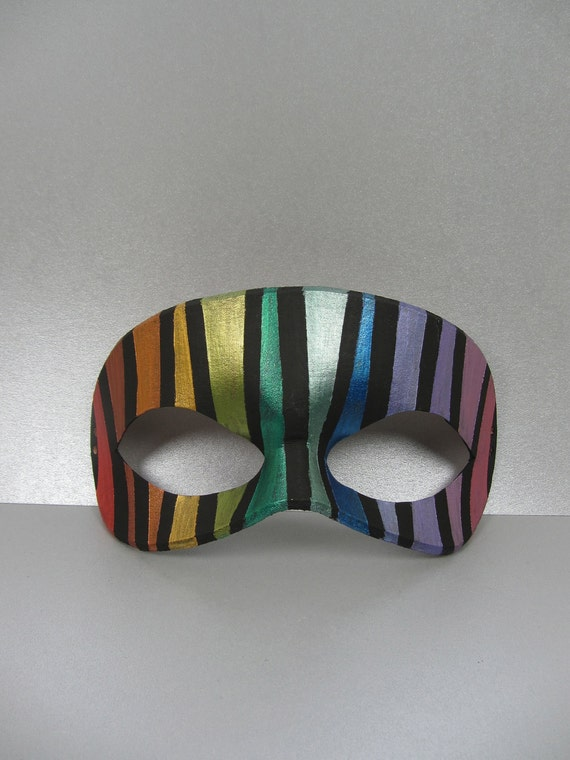 Rainbow Full Stained Glass Mask