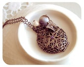 Mystic and elegant black locket