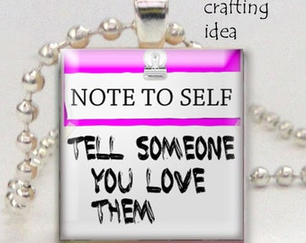 Positive sayings post it notes digital download-Scrabble tile size collage sheet- 0.75 x 0.83 inch squares-Scrabble pendants