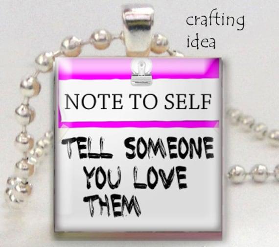 Positive Sayings Post It Notes Digital Download Scrabble Tile