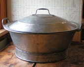 Vintage Industrial Size Bread Making - Dough Rising Bowl