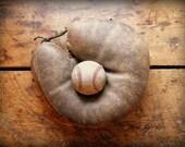Vintage Rare Left Handed Leather Baseball Catcher's Mitt