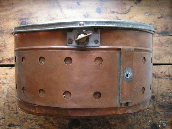 Huge Vintage Industrial Copper Steamer Pot with cover