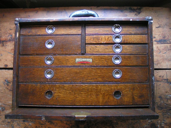 Vintage Union Tool Chest Wood Machinist S Chest By