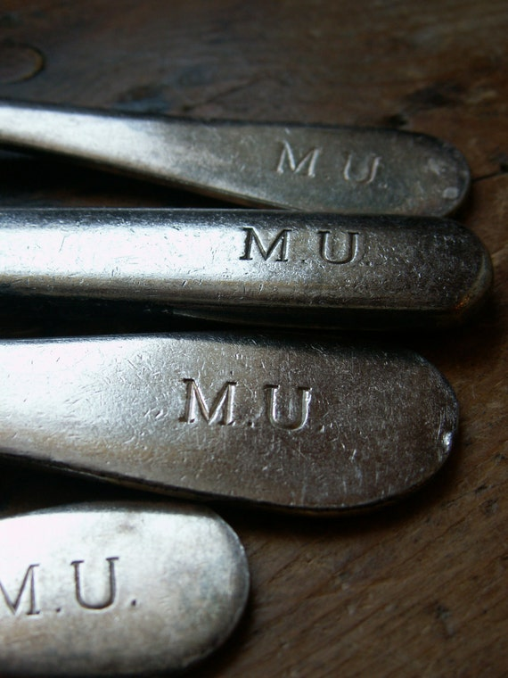Vintage Set of College M.U. Silverware