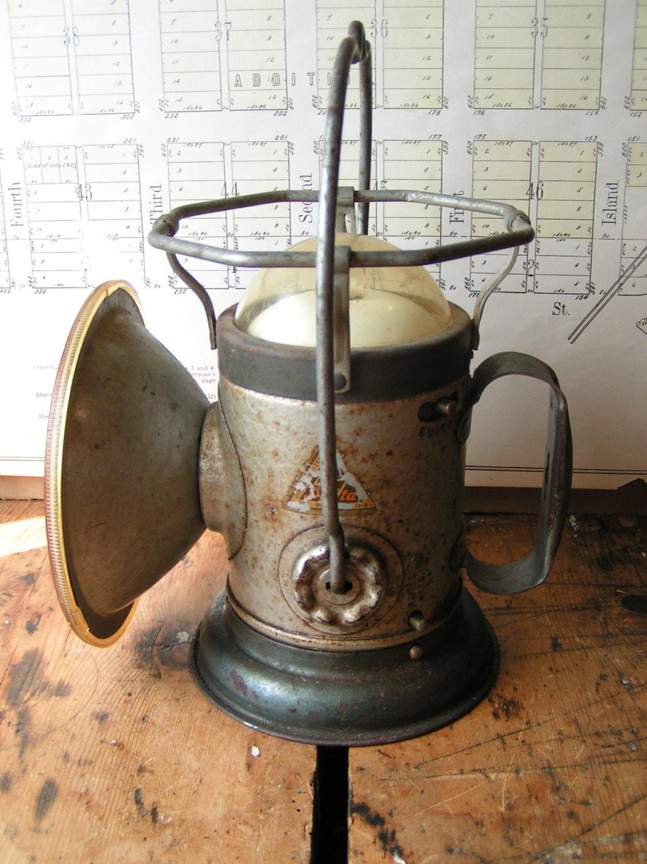 Vintage Delta Railroad Lantern Flashlight