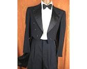 Men's 1930s/1940s After Six Tuxedo Tailcoat Suit - sz 38/40
