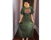 60''s Vintage India Hippie Dress Embroidered