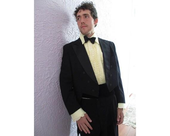 50s Men's Tuxedo Tailcoat 44 long Goth Gentleman Wedding