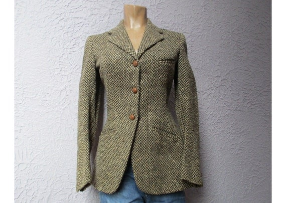 RESERVED for Kelly Barczewski Vintage Tweed Riding Jacket Equestrian Steampunk Antique Small