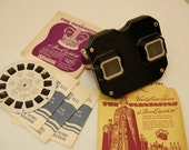 Vintage Viewmaster / Sawyer Bakelite Model C / Queen Elizabeth Coronation Reels / Vntage Toy / Collectible Toy