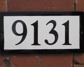 Custom Tile House Number /Black/ 5 x 10
