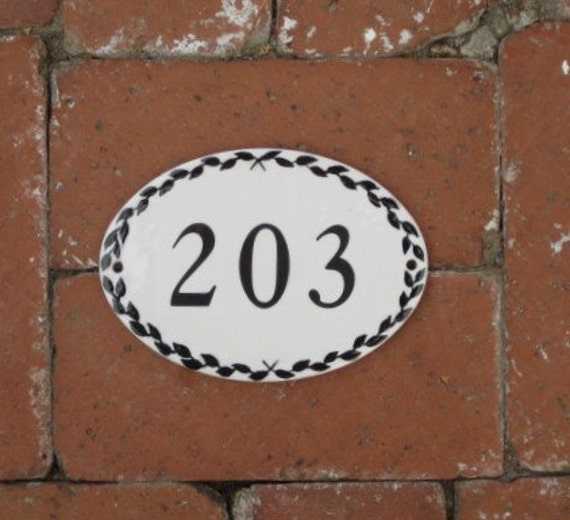 Custom listing for Christine OVAL NUMBER TILE  4 x 6 House Numbers