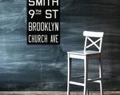 BROOKLYN New York City Vintage Look Subway Sign. Bus Scroll. Canvas 20 x 30 Rollsign Print