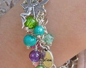 Spring Fairy 'Believe' charm bracelet, one of a set of four