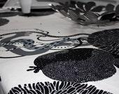 Modern Vanilla Pod & Blossom Large Tablecloth