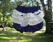 Purple Diaper Cover with White Ruffles for Infants, Babies and Toddlers