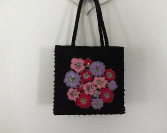 Floral Box Purse India Silk Fashion Women Lavender Blush Crimson Collectible Cruise Casino Travel