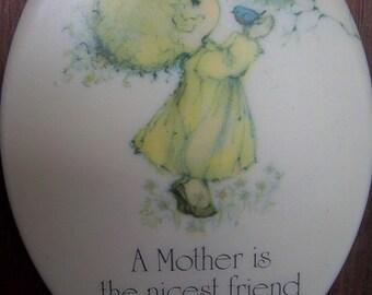 "Vintage Hallmark Little Gallery ceramica ""Mother"" plaque"