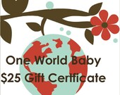 Gift Certificate for Custom Crib Bedding