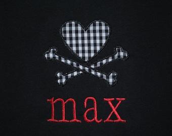 Heart & Crossbone with Monogram