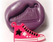 kawaii running shoe mold- flexible silicone push mold / craft/ dessert/ mini food / soap mold/ resin/jewelry and more...