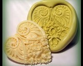 kawaii large heart mold- flexible silicone push mold / craft/ dessert/ mini food / soap mold/ resin/jewelry and more...