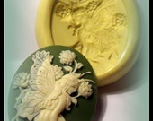 cameo lady fairy in the garden mould/ mold- flexible silicone push mold / craft/ dessert/ mini food / soap mold/ resin/jewelry and more...